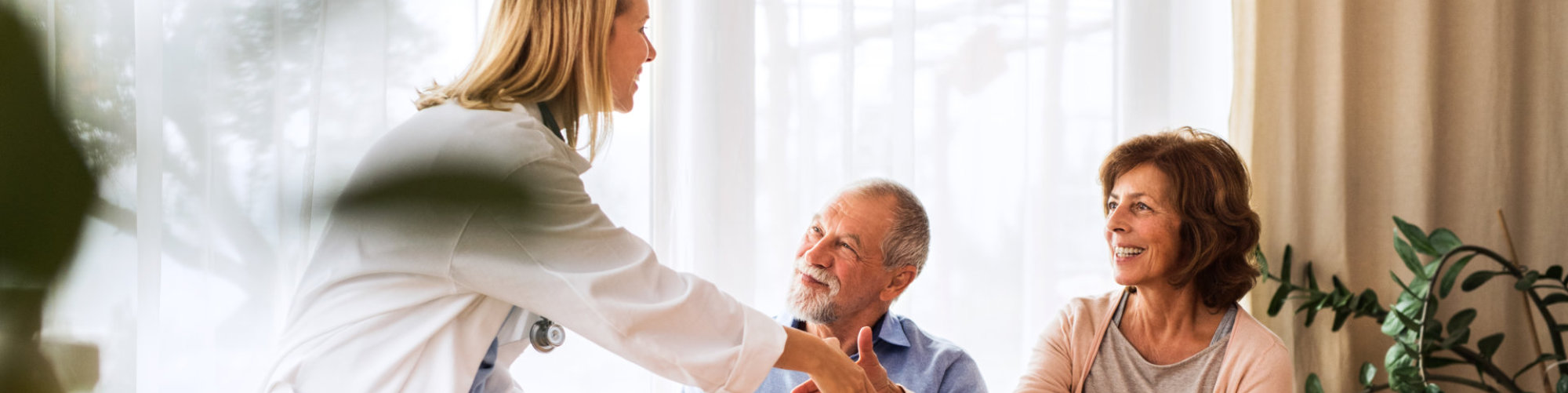 doctor with her senior patients